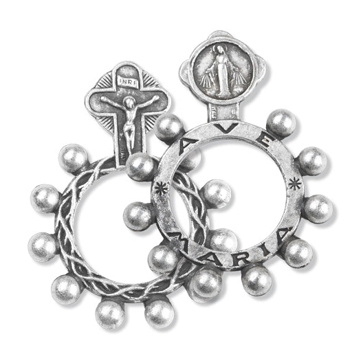 Rosary Ring With Miraculous Medal 25-Pack
