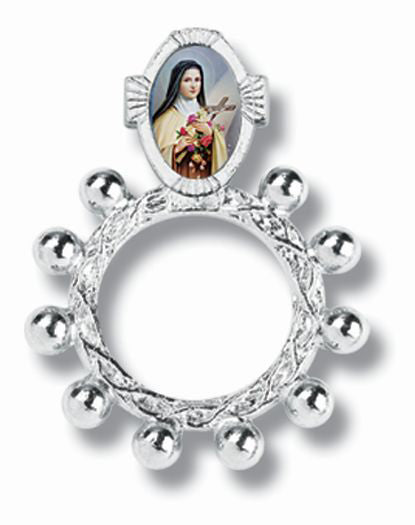 Saint Therese Rosary Ring 10-Pack