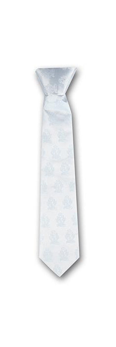 White Chalice Brocade Tie For First Communion