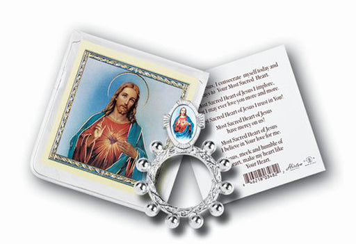 Shj Rosary Ring And Prayer Card 10-Pack