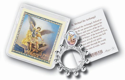 Saint Michael Rosary Ring And Prayer Card 10-Pack