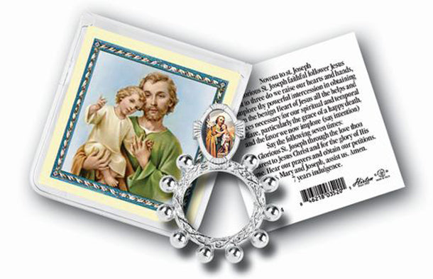 Saint Joseph Rosary Ring And Prayer Card 10-Pack