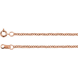 18-inch Cable Chain with Spring Ring - 14K Rose
