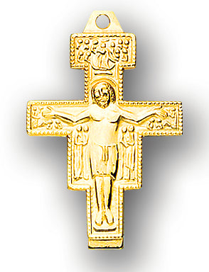 Solid 14kt. Gold San Damiano Crucifix