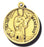 7/8-inch Solid 14kt. Gold Round Saint Genesius Medal with 14kt. Jump Ring Boxed