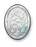 3-inch x 2-inch Sterling Silver Madonna and Child Plaque