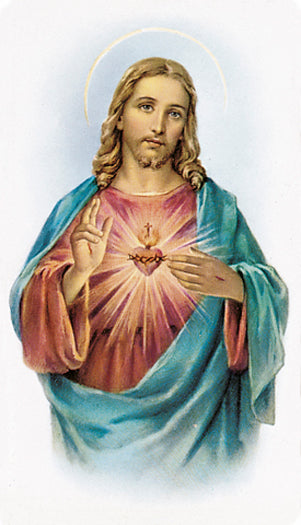 100-Pack - Sacred Heart Of Jesus Holy Card