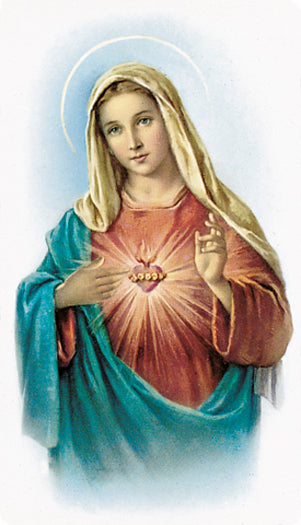 100-Pack - Immaculate Heart Of Mary Holy Card
