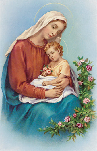 100-Pack - Madonna And Child Holy Card