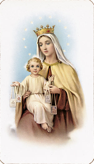 100-Pack - Our Lady Of Mt.  Carmel Holy Card