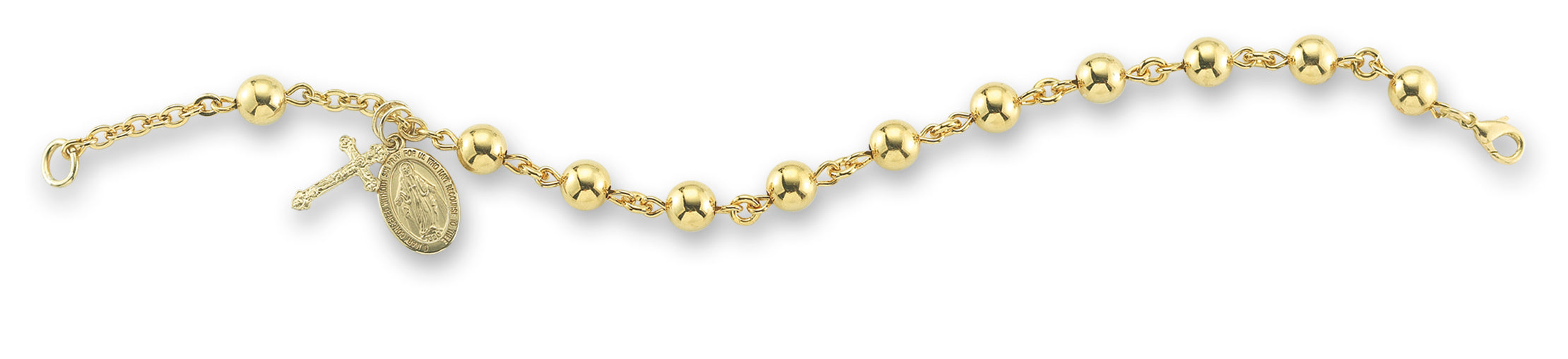 6mm Gold Over Sterling Silver Rosary