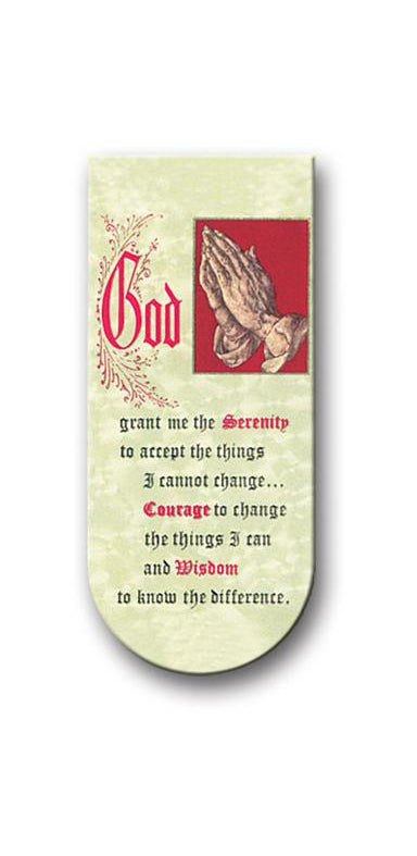 Serenity Prayer Magnetic Bookmark 10-Pack