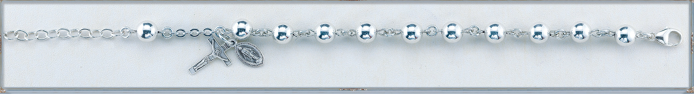 High Polished Round Sterling Silver Bracelet