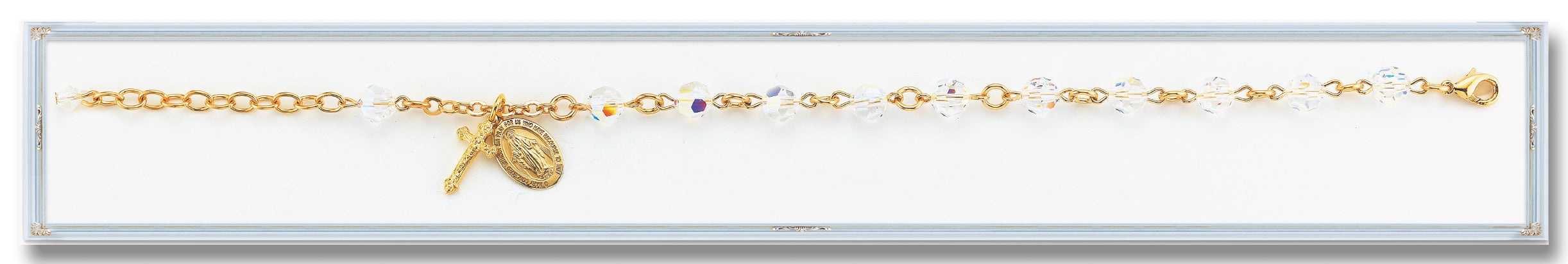 5mm Gold Plated Swarovski Crystal Bracelet