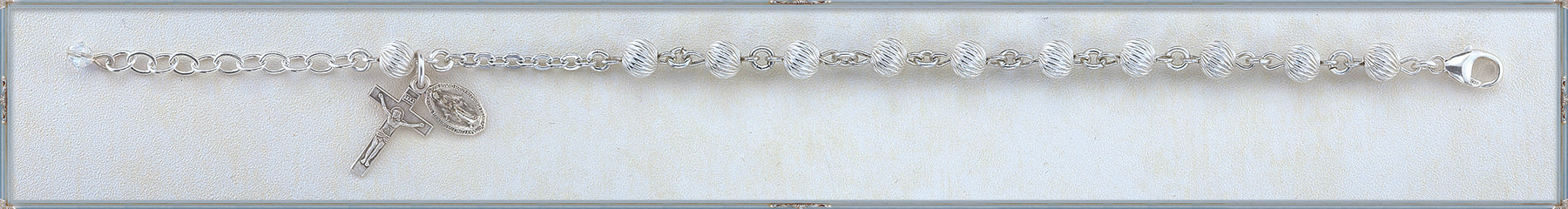 6mm Sterling Silver Swirl Bracelet
