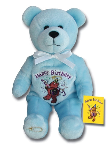 Birthday - Blue Holy Bear