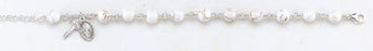 8mm Genuine White Howlite Rosary Bracelet