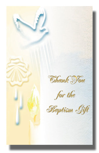 8-Pack - Baptism Thank You Card