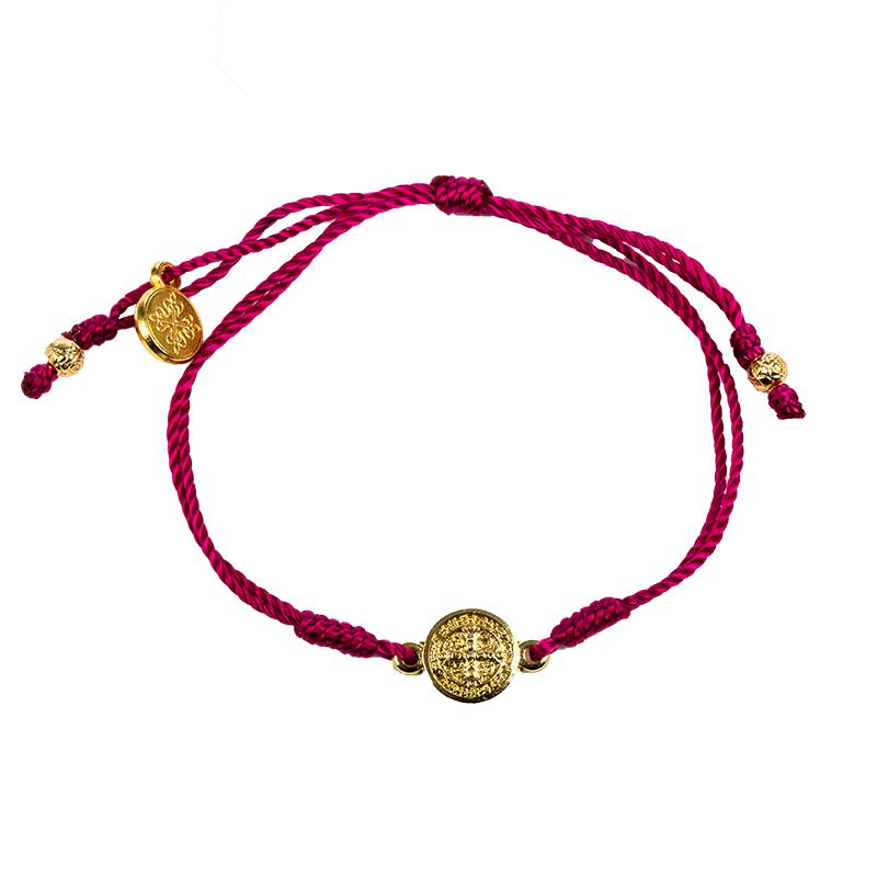 Breathe Blessing Bracelet Pink - Gold