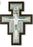 6-inch Sterling Silver San Damiano Crucifix with Hand Painted Gold Highlights