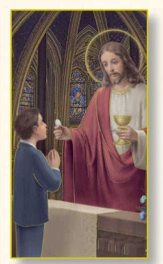 First Communion Boy Card - 100-Pack