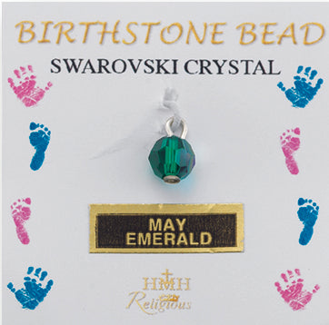 6mm Round Swarovski Emerald Birthstones
