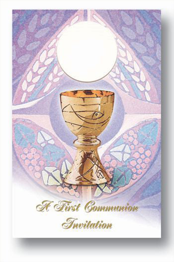 8-Pack - First Communion Invitation