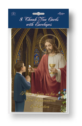 8-Pack - Cathedral Boy Communion Invitations