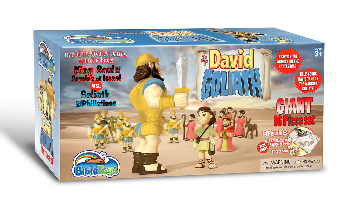 David and Goliath Battle Playset