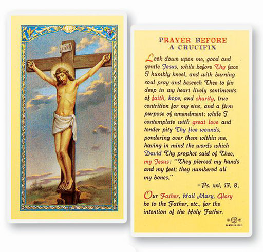 25-Pack - Prayer Before A Crucifix Holy Card
