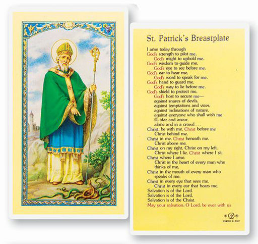 25-Pack - Saint Patrick-Breastplate Holy Card
