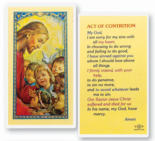 25-Pack - Act Of Contrition - Christ Kids Holy Card
