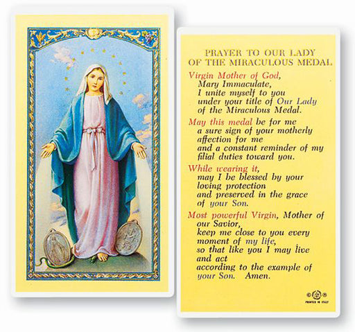 25-Pack - Our Lady Of The Miraculous Medal Holy Card