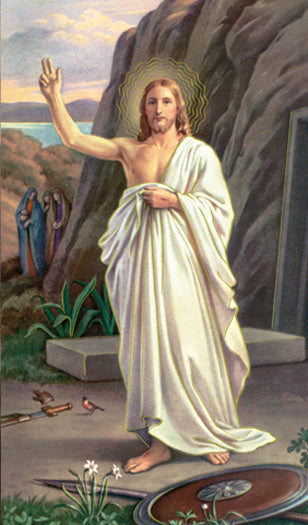 100-Pack - Risen Christ Holy Card