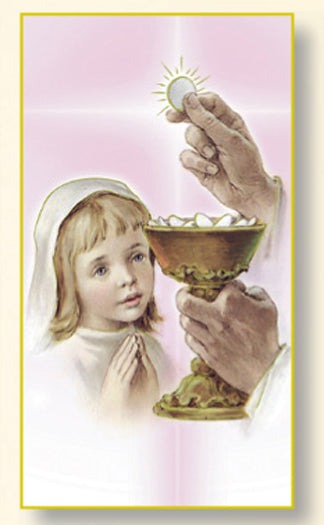 Communion Girl Card