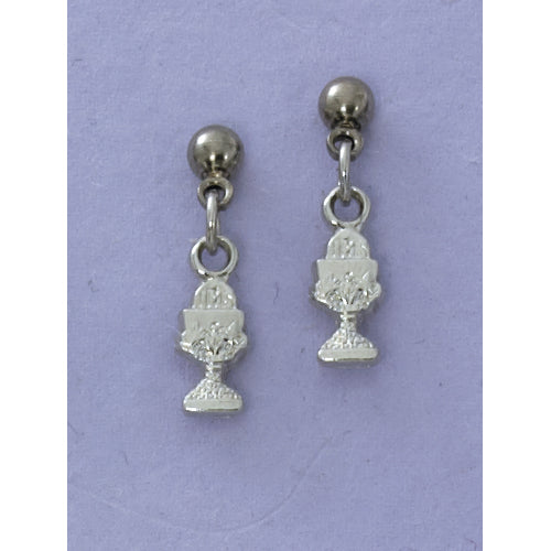 Rhodium Chalice Earrings