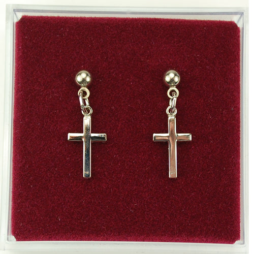 Rf Cross Earrings