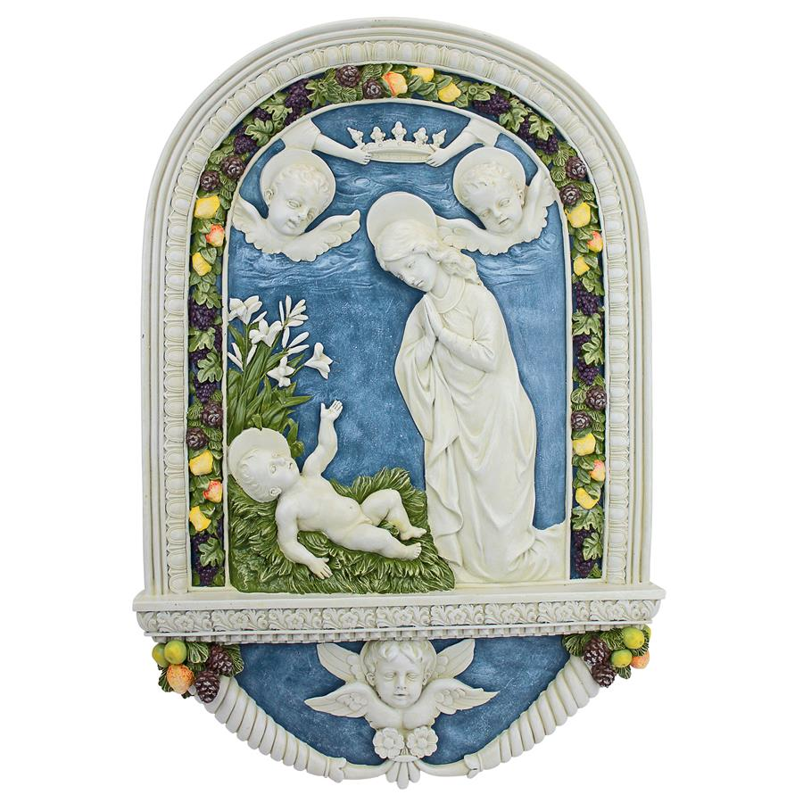 Adoration Of The Christ Child Plaque