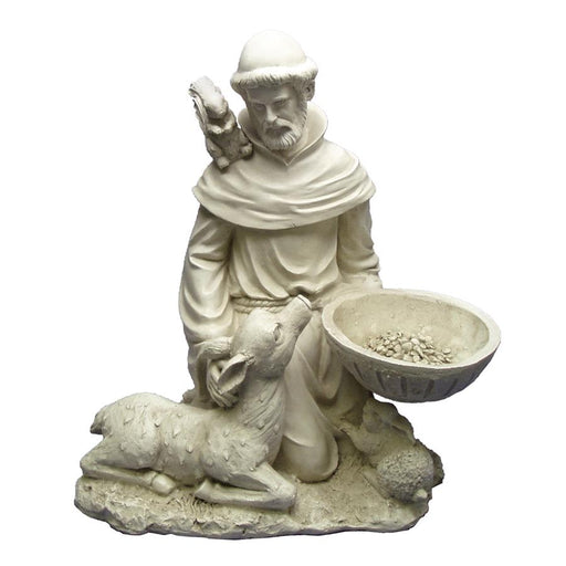 St Francis Feeding The Animals Statue