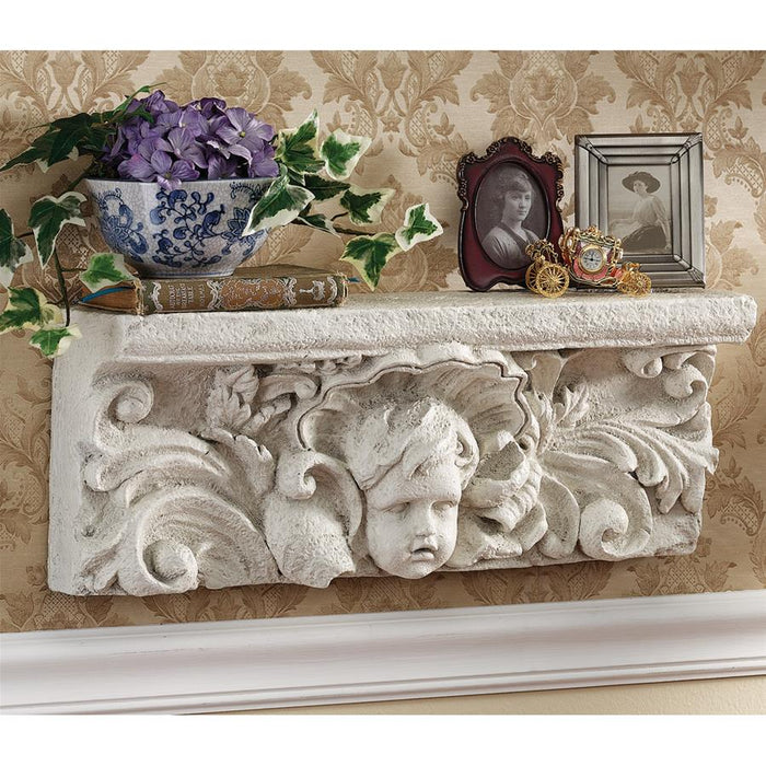 Cathedral Cherub Wall Shelf