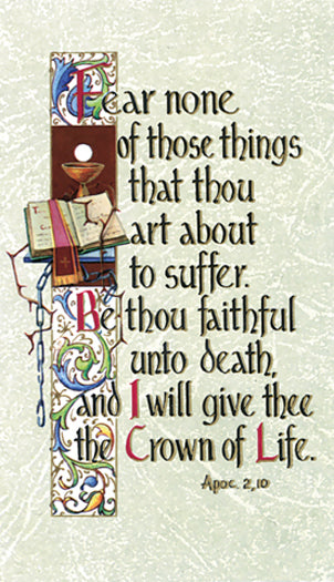 The Crown Of Life Holy Card