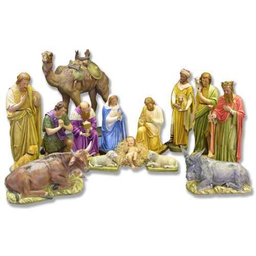 Nativity Set Large - Hand-Painted