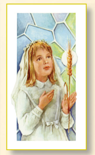 100-Pack - First Communion Girl Card