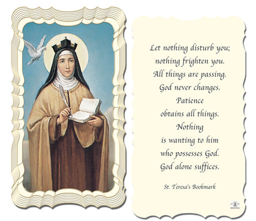 50-Pack - Saint Therese'S Bookmark