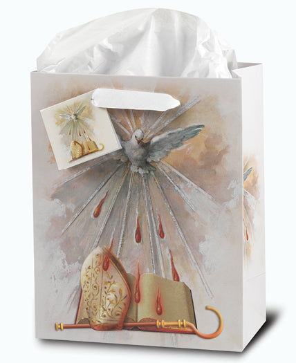 Confirmation Medium Gift Bag with Tissue 73/4X93/4X4 10-Pack
