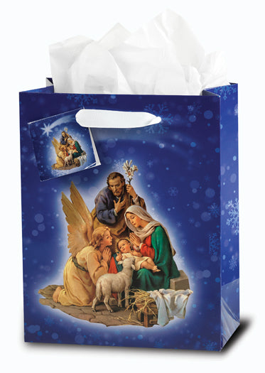 Nativity Medium Gift Bag With Tissue 73/4X93/4X4 10-Pack