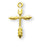 3/4-inch Gold Over Sterling Silver Wheat Cross with 18-inch Chain