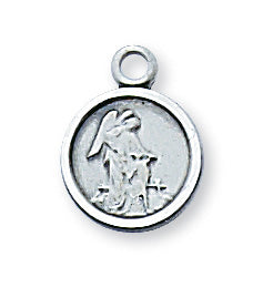 Sterling Silver Guardian Angel with 16-inch Chain