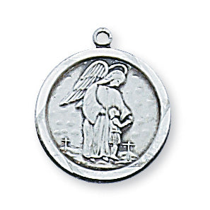 Sterling Silver Guardian Angel with 18-inch Chain