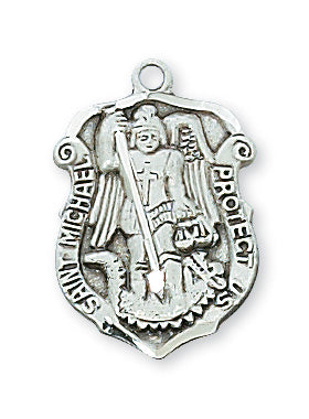 Sterling Silver Saint Michael with 18-inch Chain